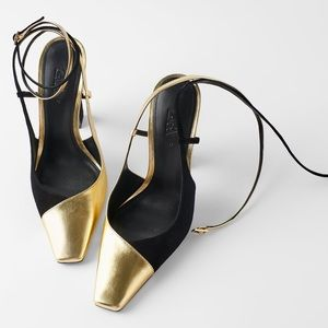 Zara Shoes - Zara BLUE COLLECTION COMBINATION LEATHER HIGH HEEL